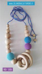 SARA - Collana da allattamento: Con anelli in legno