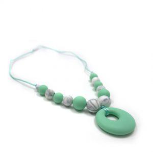 Collana da allattamento in Silicone, verde